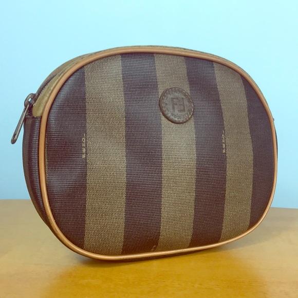 87e9c579576 Fendi Handbags - Fendi 🌺 Vintage Pequin Stripe Cosmetic Pouch